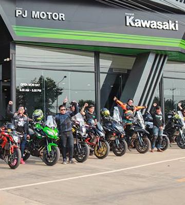 Kawasaki PJMotor Sakhonnakhon จัดทริป Meeting Versys Club ครั้งที่ 1