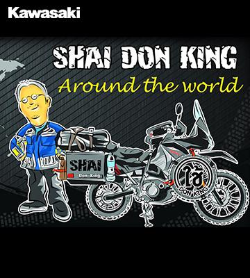 """""""Shai Don King"""" หนุ่มไทยสุดเจ๋ง ขี่มอเตอร์ไซค์ """"คาวาซากิ"""" ที่มีฐานการผลิตในไทย ลุยรอบโลกได้สำเร็จ!!"""