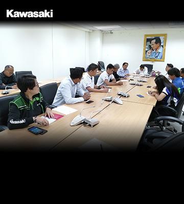 """คาวาซากิเข้าร่วมประชุมหารือ """"การพัฒนาฝึกอบรมและทดสอบเพื่อรับรองผู้ฝึกสอนขับรถ หลักสูตรรถจักรยานยนต์"""" (Big Bike)"""