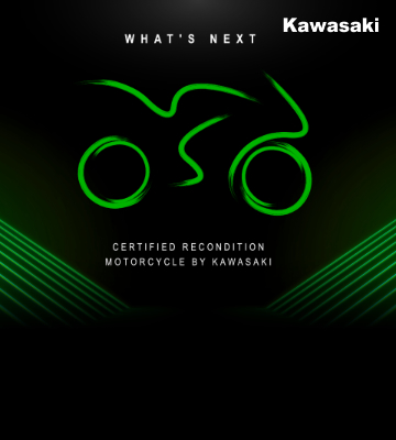 """KAWASAKI CERTIFIED RECONDITION MOTORCYCLE (KCRM)"" รถจักรยานยนต์ปรับสภาพตามมาตรฐานโรงงาน"