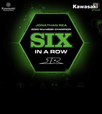Jonathan Rea six in a row World Champion!!!