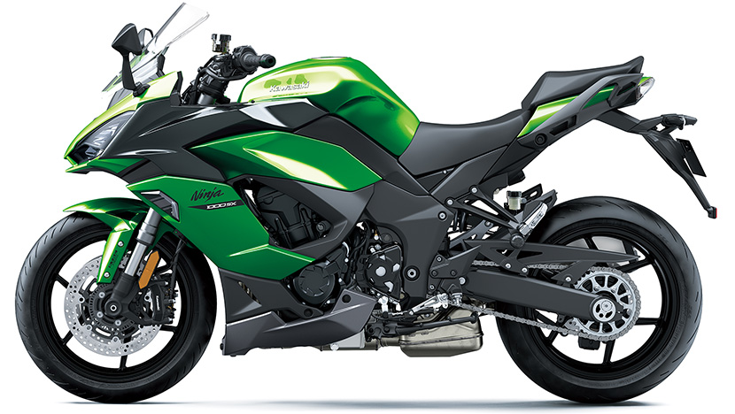 Ninja 1000SX : Emerald Blazed Green / Metallic Carbon Gray / Metallic Graphite Gray