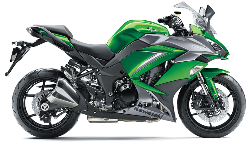 Ninja 1000 : Emerald Blazed Green / Metallic Matte Graphite Gray