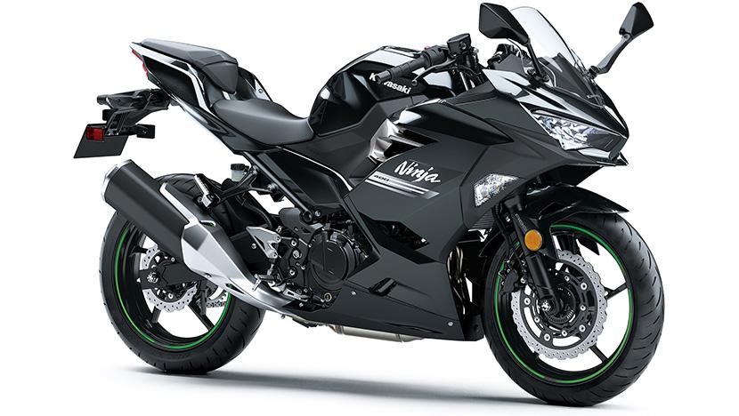 Ninja 400 : Metallic Carbon Gray/Metallic Flat Spark Black (2022)