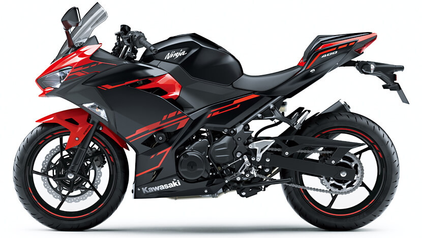 Ninja 400 : Passion Red / Metallic Flat Spark Black