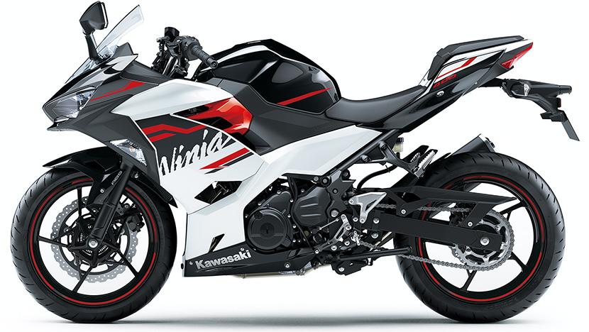 Ninja 400 : Pearl Blizzard White / Metallic Spark Black