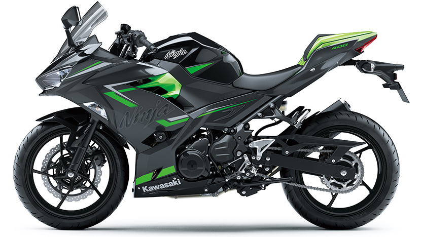 Ninja 400 : Ebony / Metallic Magnetic Dark Gray