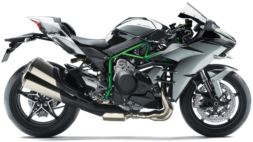 Ninja H2 : MIRROR COATED MATTE SPARK BLACK