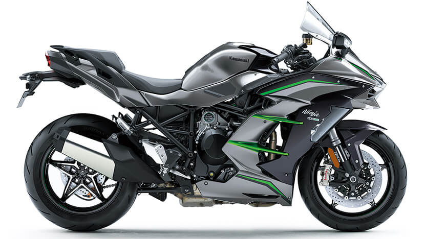 Ninja H2 SX SE+ : Graphite Gray / Metallic Diablo Black / Emerald Blazed Green
