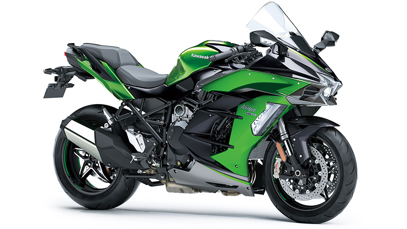 Ninja H2 SX SE+ : Emerald Blazed Green / Metallic Graphite Gray / Metallic Diablo Black