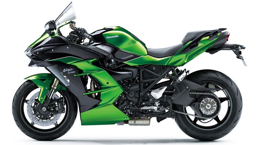 Ninja H2 SX SE : Emerald Blazed Green / Metallic Diablo Black
