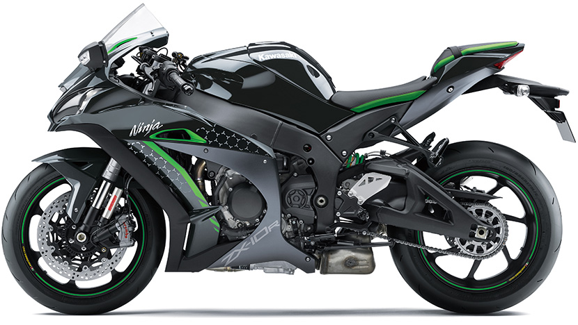Ninja ZX-10R SE : Metallic Carbon Gray / Metallic Flat Platinum Gray / Lime Green