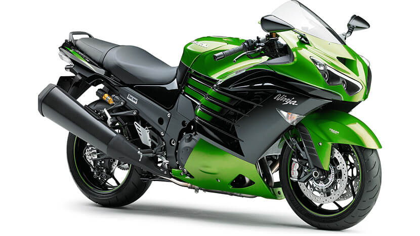 Ninja ZX-14R : GOLDEN BLAZED GREEN   METALLIC SPARK BLACK