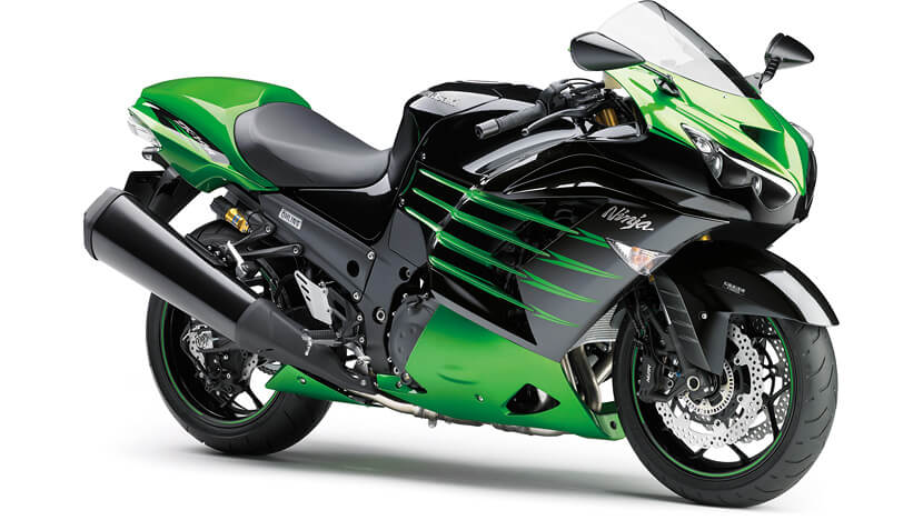 Ninja ZX-14R : CANDY LIME GREEN METALLIC SPARK BLACK