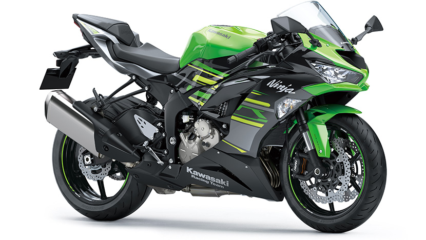 Ninja ZX-6R : LIME GREEN / EBONY / METALLIC GRAPHITE GRAY