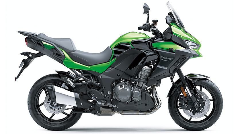 Versys 1000 (2020) : Candy Lime green / Metallic Spark Black