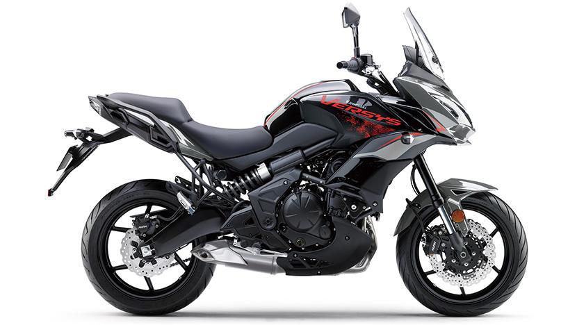 Versys 650 : Metallic Moondust Grey / Metallic Spark Black (2021)