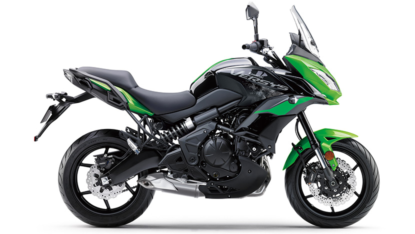 Versys 650 : Candy Lime Green / Metallic Spark Black (2021)