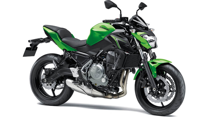 Z650 : CANDY LIME GREEN / METALLIC SPARK BLACK