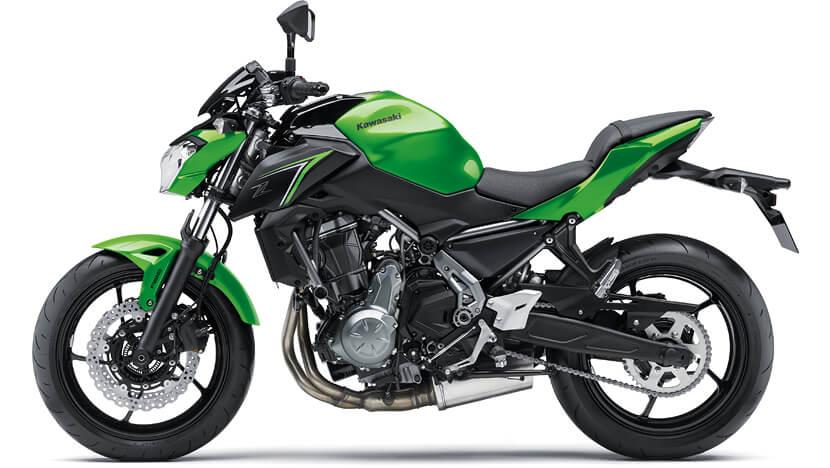 Z650 : CANDY LIME GREEN / METALLIC SPARK BLACK