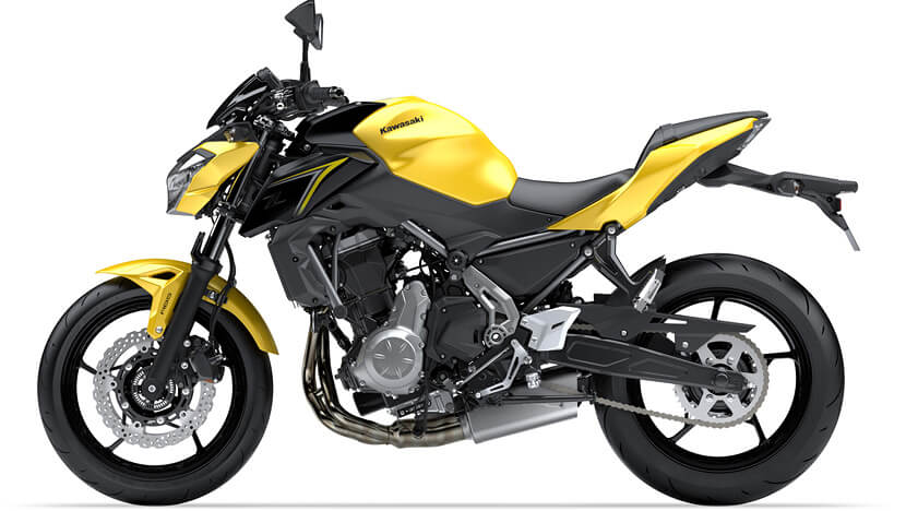 Z650 : YELLOW / METALLIC SPARK BLACK