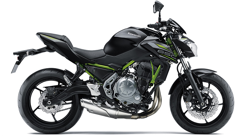 Z650 : Metallic Flat Spark Black / Metallic Spark Black