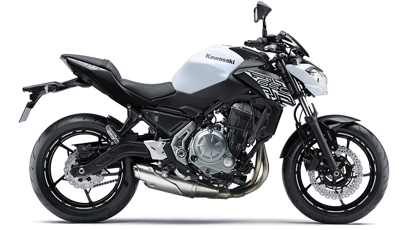 Z650 : Pearl Flat Stardust White / Metallic Flat Spark Black