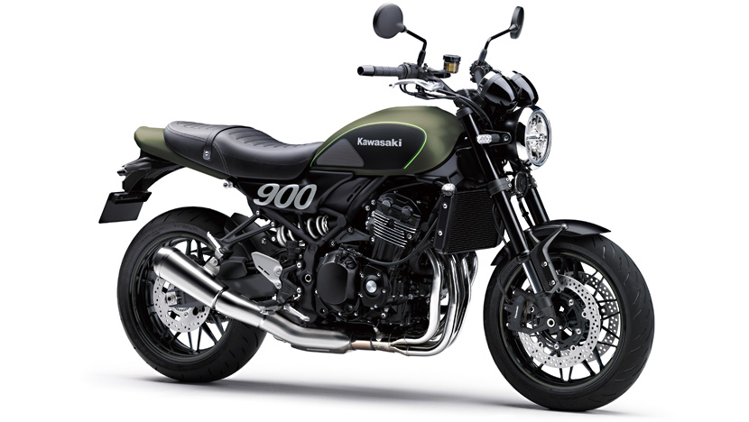 Z900 RS : Metallic Matte Covert Green / Flat Ebony
